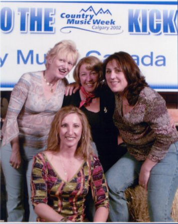 Annette Jensen; Inge; Beth Warren; and L J Daylee at the CCMA 2002 Kick Off Party at Cowboys